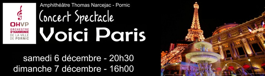 07/12/2014 Concert Spectacle �Voici Paris� � Pornic