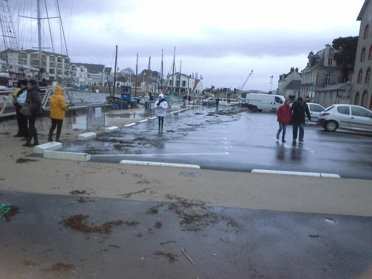 Pornic - 02/01/2014 - Photos : le port a un peu débordé à Pornic